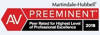 MartinDale Hubble AV Preeminent Peer Related for Highest Level of Professional Excellence 2018 Badge